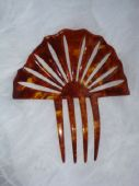 Celluloid Tortoiseshell Colour Haircomb - Art Deco 1920's/1930's (sold)